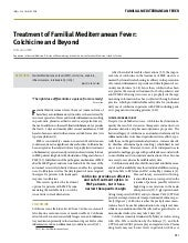 Treatment of familial mediterranean fever: colchicine and beyond