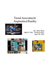 Trend assessment - Augmented Reality