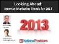 Internet Marketing Trends for 2013
