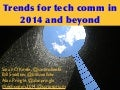 Trends in technical communication 2014 from Scriptorium Publishing