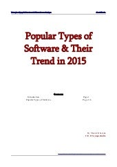 Trends of software development in 2015 by shamit khemka