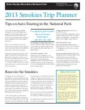 Trip Planner Great Smoky Mountains ...