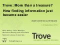 Trove: More Than a Treasure? ALIA Conference Presentation 2010 Brisbane by Rose Holley