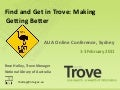 Resource Sharing in Australia: 'Find' and 'Get' in Trove - Making 'Getting' better January 2011