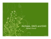 Archives - DACS and EAD