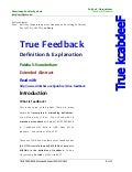 TRUE FEEDBACK PDF NEW ---See PPT also