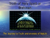 Truth Of Holy Spirit Or Brahman