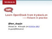 Learn OpenStack from trystack.cn —...