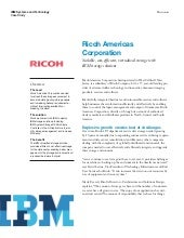 Ricoh Americas Corporation achieves...