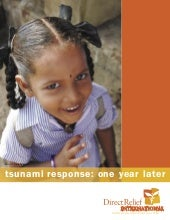 Tsunami response one year later