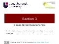 Structures and Materials- Section 3 Stress-Strain Relationships