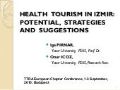 HEALTH  TOURISM IN IZMIR: POTENTIAL...