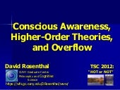 """Conscious Awareness, Higher-Order ..."