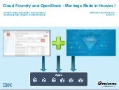 Cloud Foundry and OpenStack - A Marriage Made in Heaven! (Cloud Foundry Summit 2014)