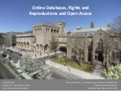 Online Databases, Rights and Reproductions and Open Access - John ffrench