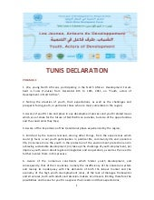 Tunis declaration on youth actors d...