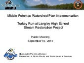 Turkey Run at Langley High School Stream Restoration Public Meeting