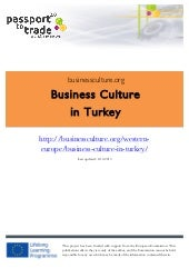 Turkish business culture guide - Le...