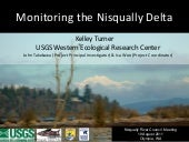 Monitoring the Nisqually Delta