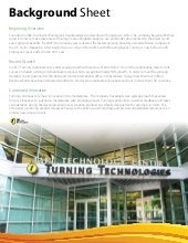 Turning technologies background sheet