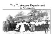 Tuskegee experiement power point