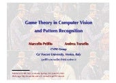 cvpr2011: game theory in CVPR part 1