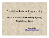 Tutorial on-python-programming
