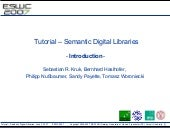 Tutorial on Semantic Digital Librar...