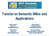 Tutorial   semantic wikis and appli...