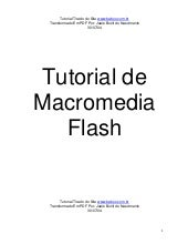 Tutorial de macromedia flash