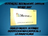 Tutorial de microsoft word 2007