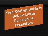 Tutorial linear equations and linea...