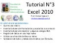 Tutorial n°3 excel 2010