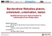 Barrierefreie Website planen, entwi...