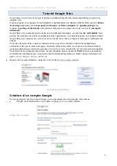Tutoriel google sites