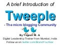 Tweeple - Introduction of the Twitter Community