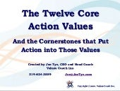 Twelve core action values and 48 co...