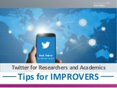 Twitter for Researchers & Academics
