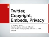 Twitter Copyright Embeds Privacy #SMSociety14