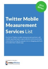 Twitter Mobile Measurement Services List
