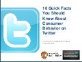 10 Quick Facts You Should Know About Consumer Behavior on Twitter
