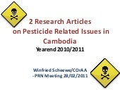 Two research articles on pesticides...