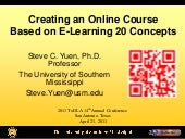 Creating an Online Course Based on Elearning 2.0 Concepts