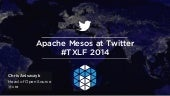Apache Mesos at Twitter (Texas LinuxFest 2014)