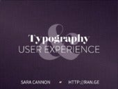 Typography and User Experience -  WCSF