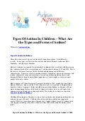 Types of autism in children   what are the types and forms of autism