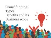 Types of crowdfunding and its scope
