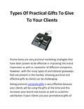 Types of practical gifts to give to your clients