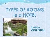 Different types of room in Hotels