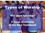 Types of worship